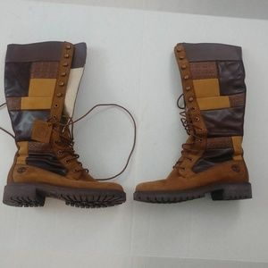 Timberland Vintage Patchwork Boots 7.5M